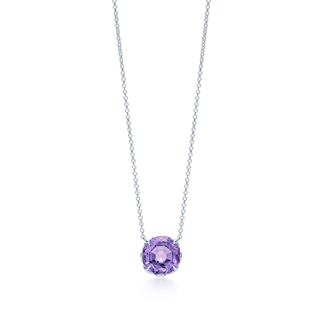 purple emerald cut amethyst s natural vintage gold cts yellow jewellery necklace product