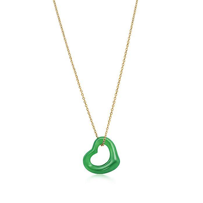 5cf15b1d3 Elsa Peretti® Open Heart pendant of green jade and 18k gold ...