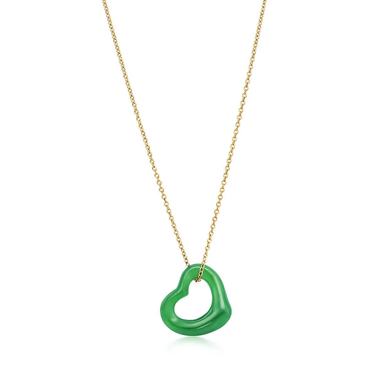 with gioie jade amp clover silver green necklace cubic image zirconia nomination