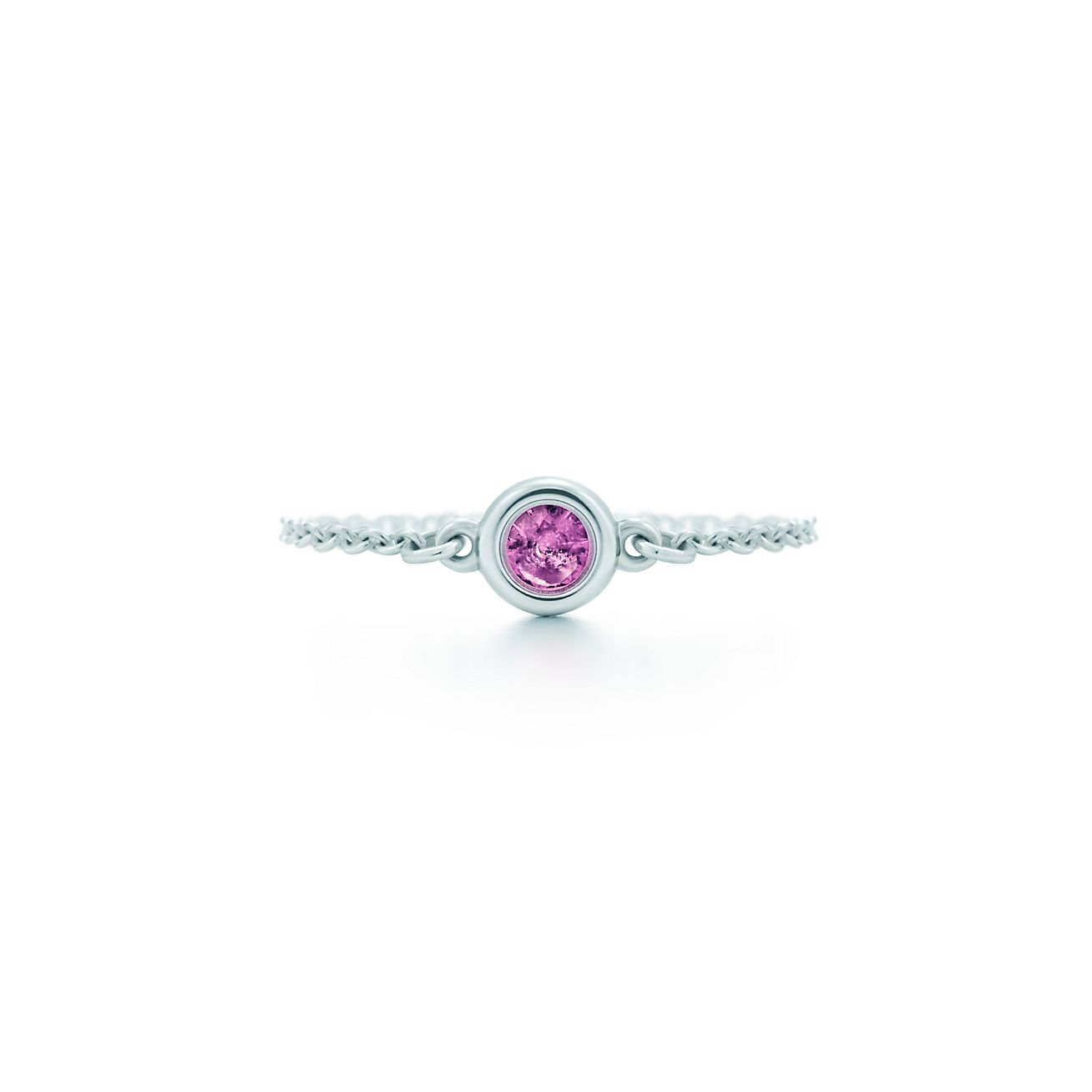 Elsa Peretti Diamonds by the Yard ring in sterling silver - Size 4 Tiffany & Co.