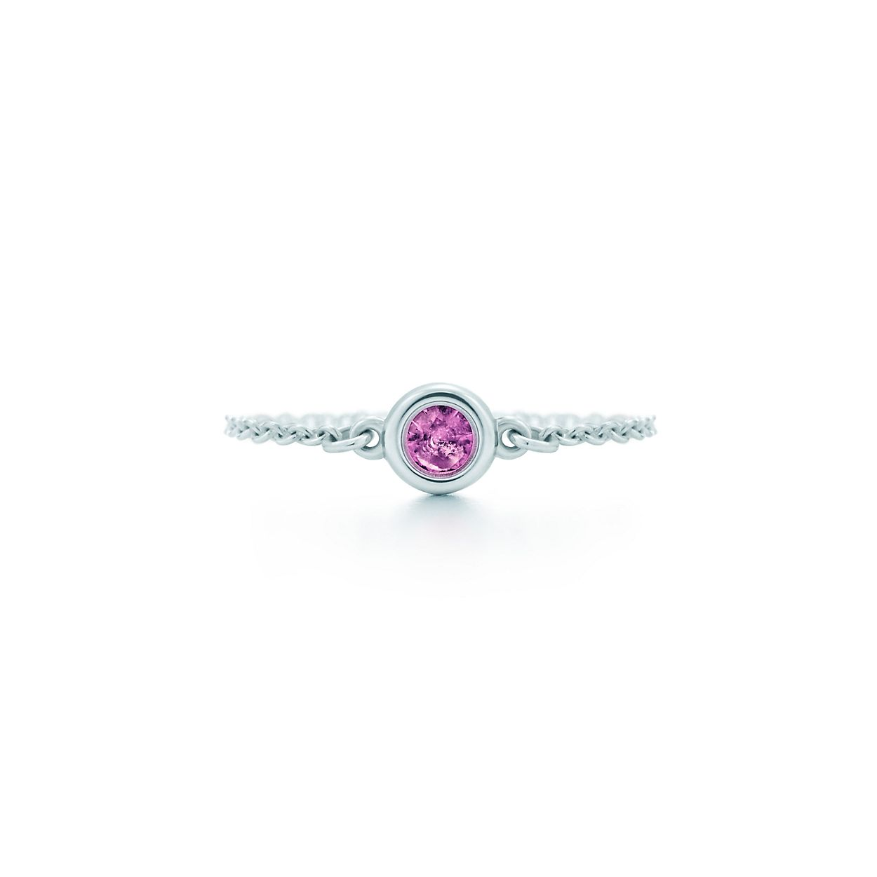 Elsa Peretti Color by the Yard earrings in sterling silver with pink sapphires Tiffany & Co. EyIPxHrr