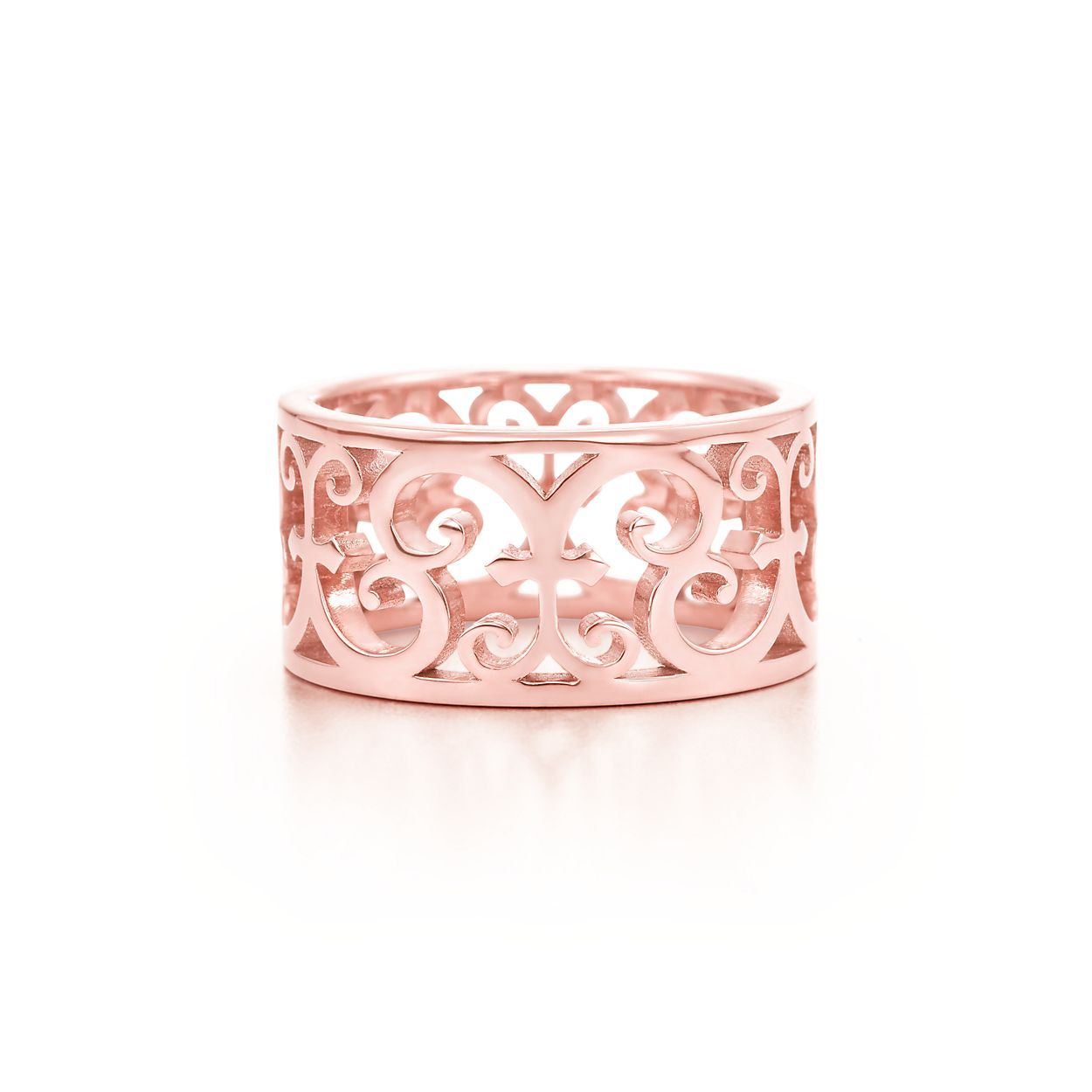 Tiffany Enchant® wide ring in Rubedo® metal. | Tiffany & Co.