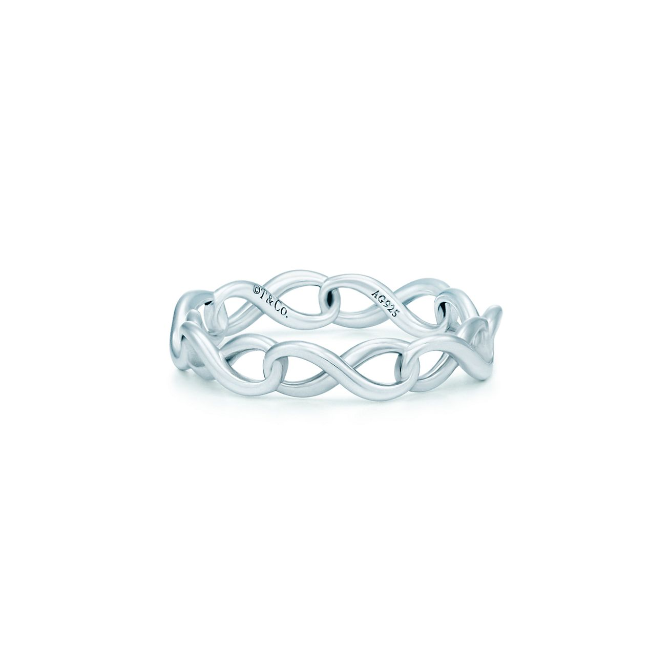 Tiffany Infinity Narrow Band Ring In Sterling Silver Tiffany Co