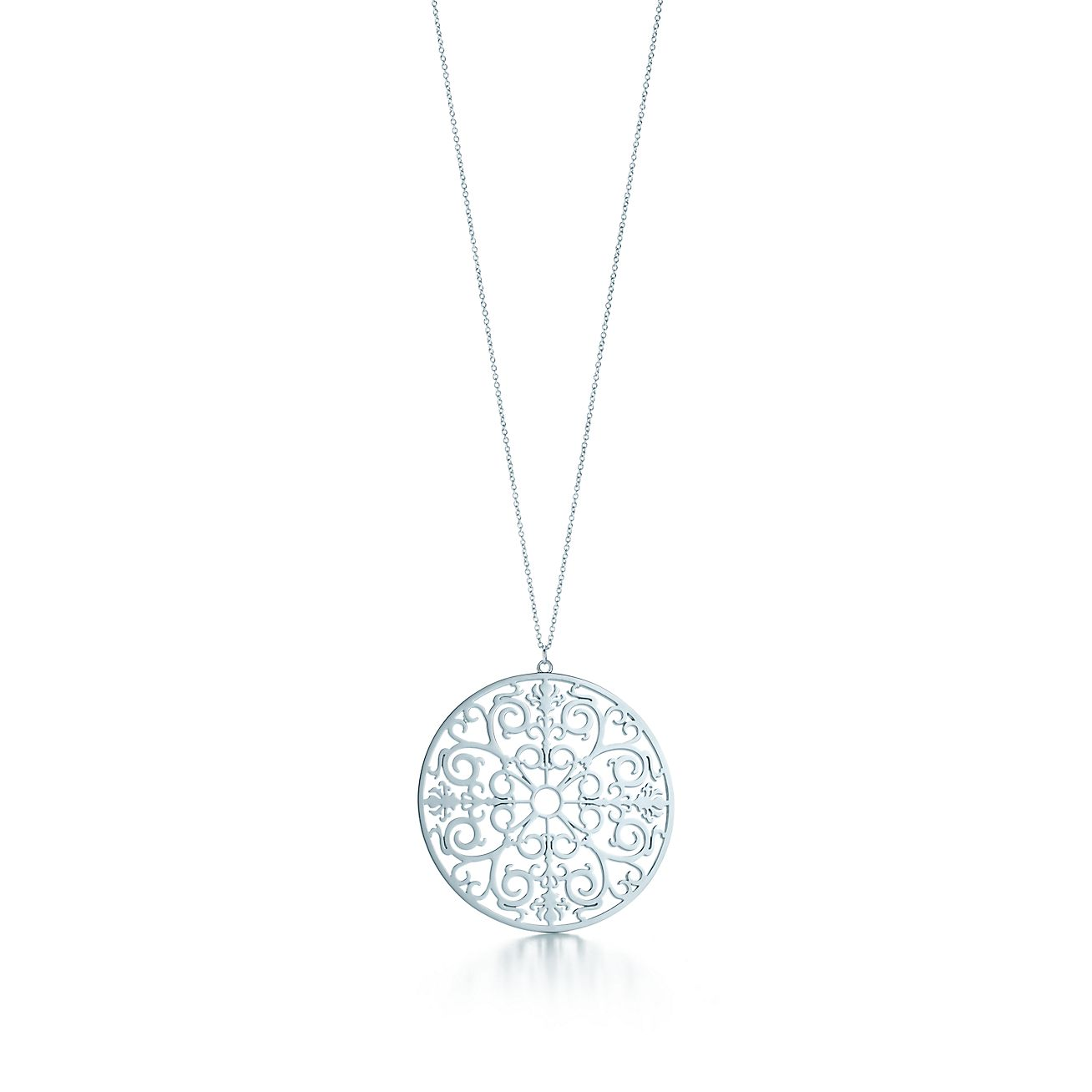 Tiffany enchant round pendant in sterling silver medium tiffany tiffany enchantround pendant audiocablefo