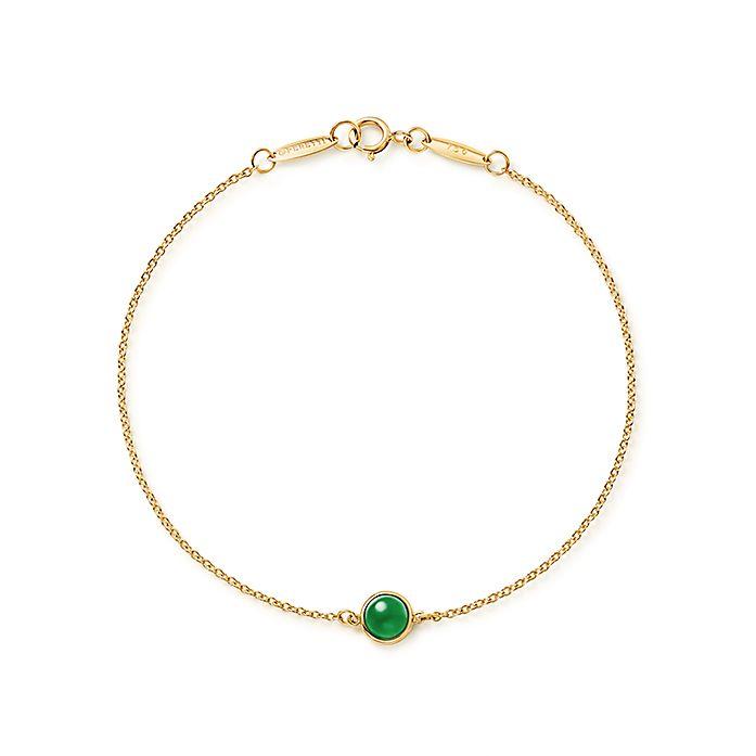 f1141af2d Elsa Peretti® Cabochon bracelet in 18k gold with green jade ...