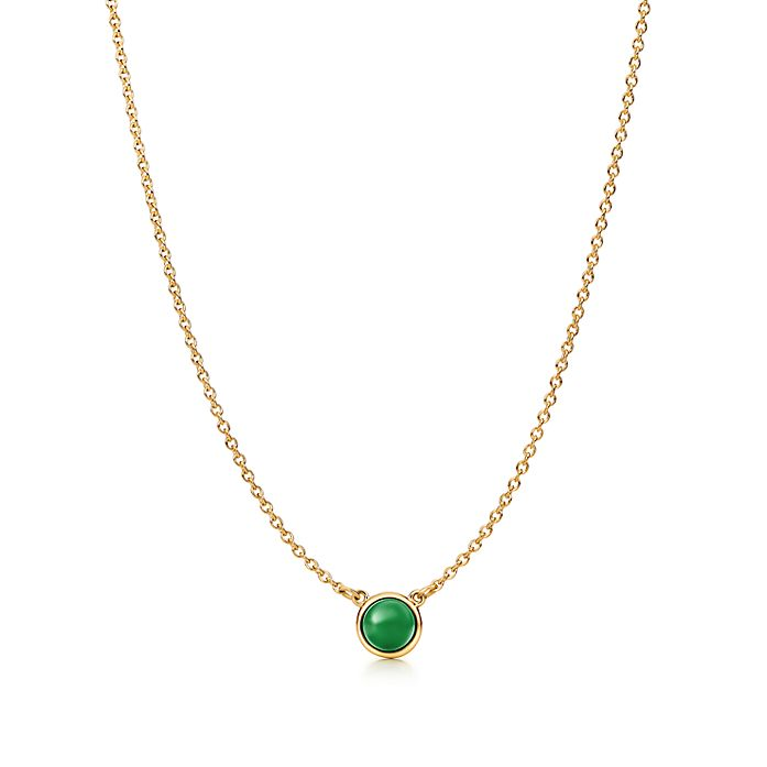 9a676a437 Elsa Peretti® Cabochon pendant in 18k gold with green jade ...