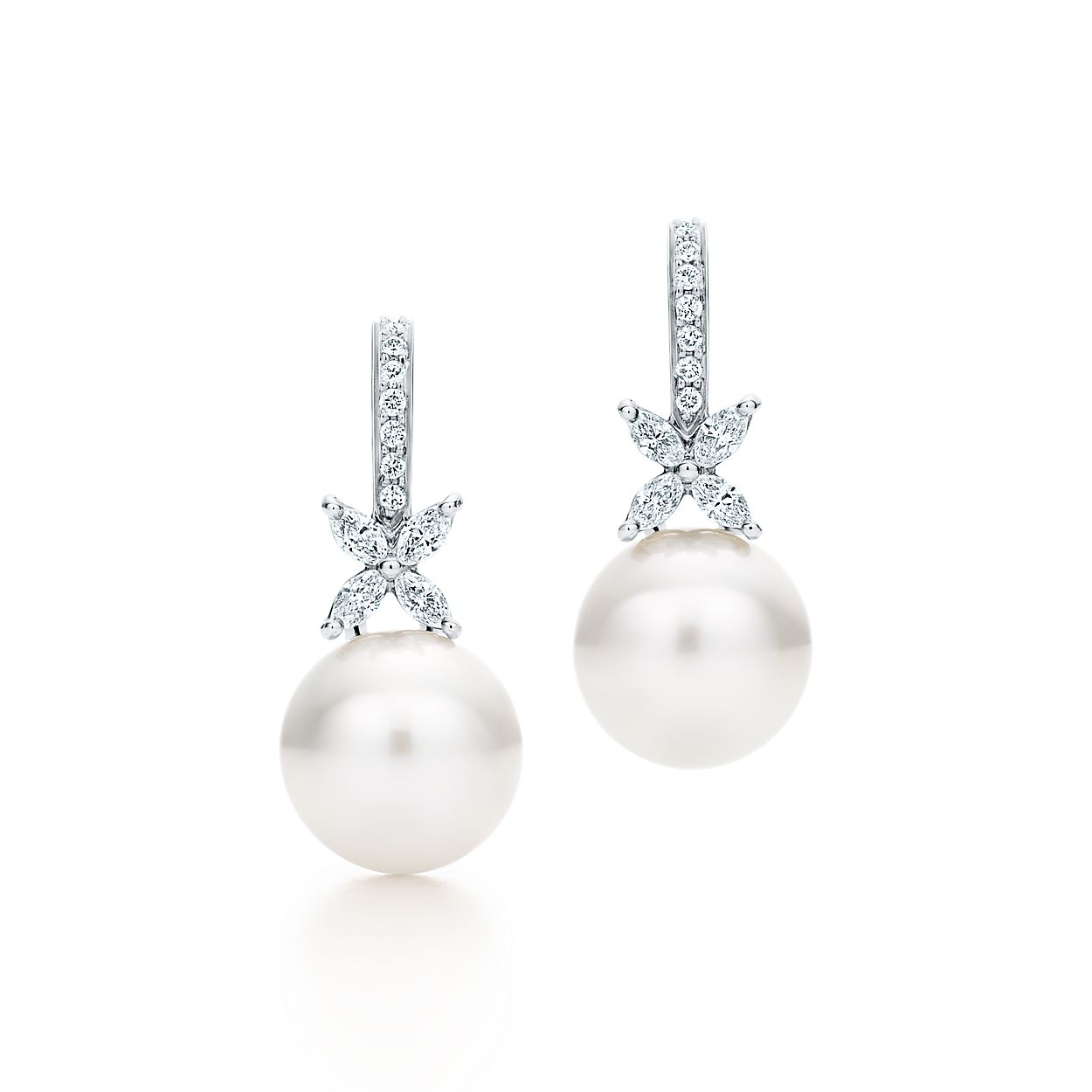 Tiffany Victoria Pearl And Diamond Br Earrings