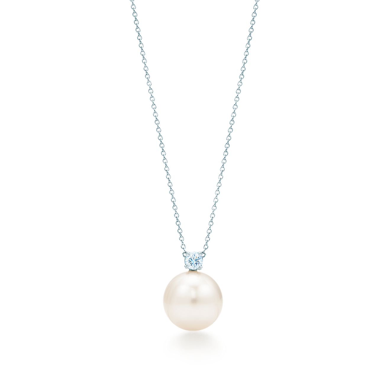 pearl diamond white necklace karat grey products estate gold img silverscape