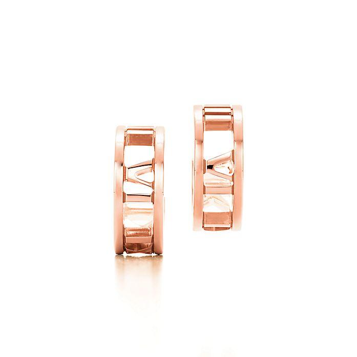 6f049da8e Atlas® hoop earrings in 18k rose gold, mini.   Tiffany & Co.