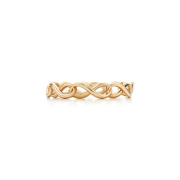 7b7198eec8fb9 Tiffany Infinity 18k gold ring with narrow band | Tiffany & Co.