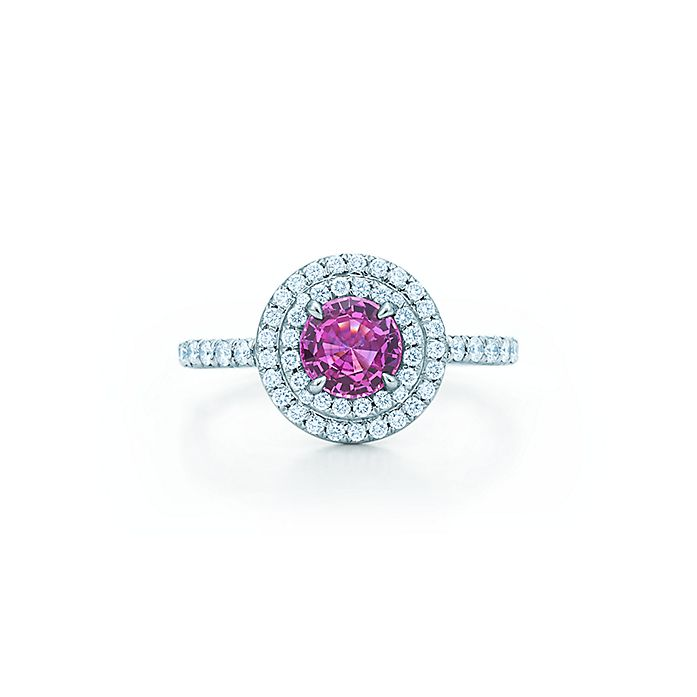 0babf62d3 Tiffany Soleste ring in platinum with a .45-carat pink sapphire and ...
