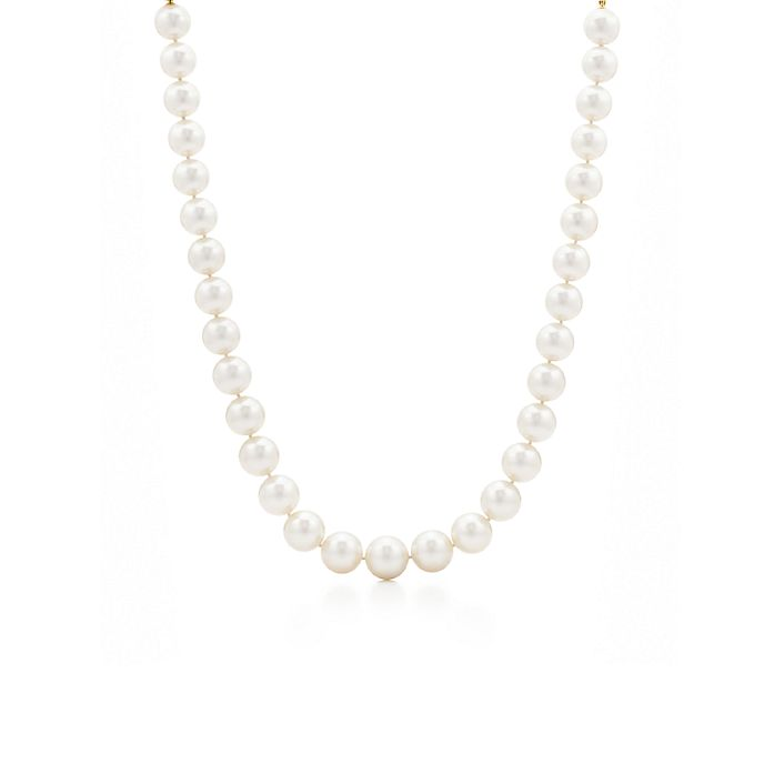 d93aa54e55adba Tiffany South Sea necklace of cultured pearls with an 18k gold clasp ...