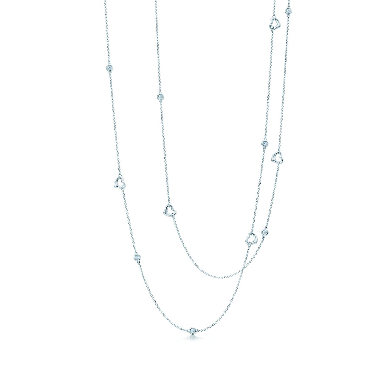 Elsa Peretti Pearls by the Yard sprinkle necklace in sterling silver - Size Tiffany & Co.