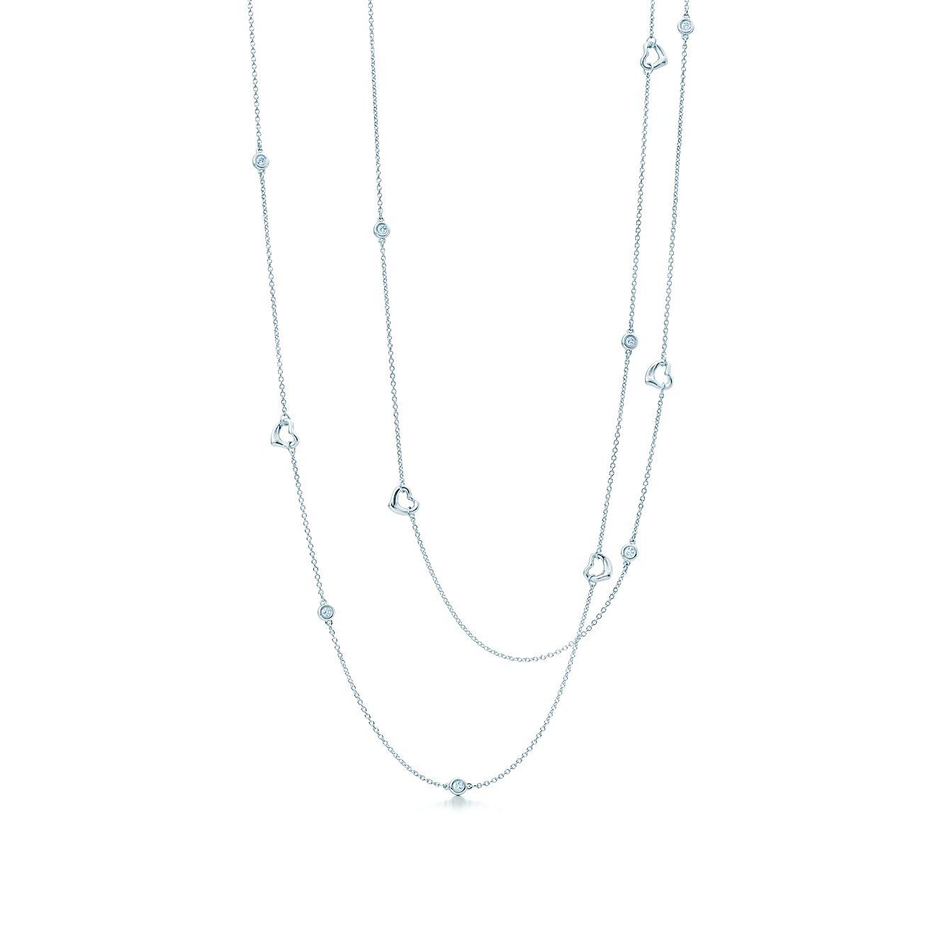 Elsa Peretti Diamonds By The Yard Open Heart Necklace