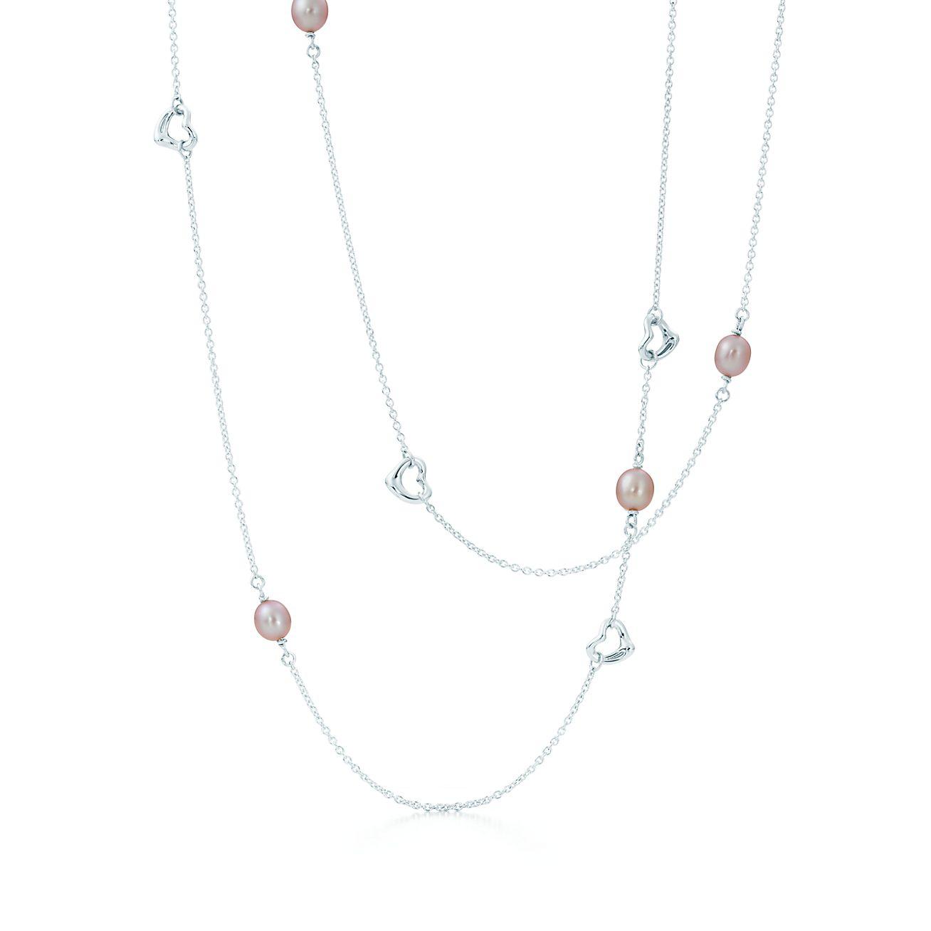 Collar open heart de pearls by the yard de elsa peretti en plata elsa peretti collar open heart de pearls by the yard aloadofball Gallery