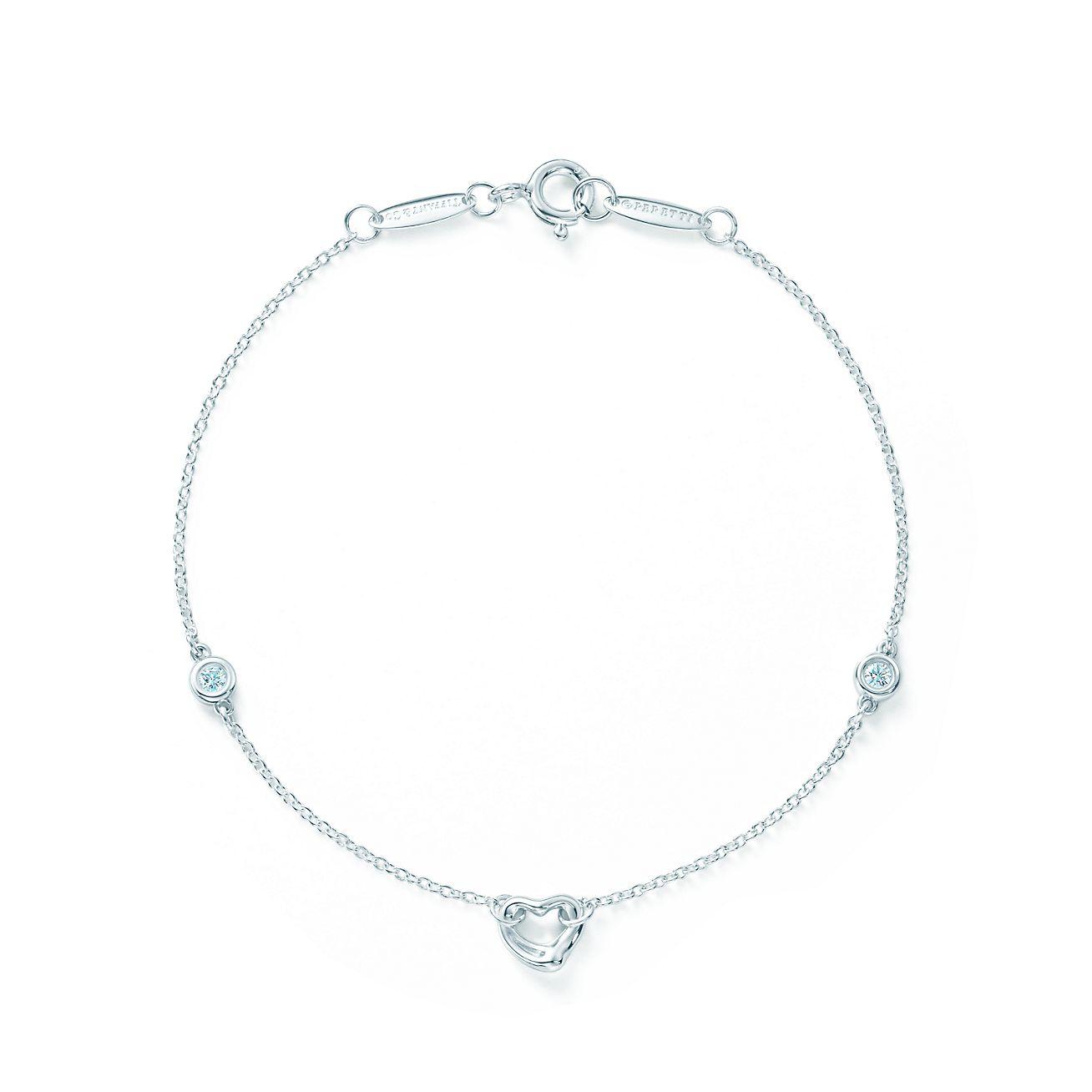 Elsa Peretti Diamonds By The Yard Open Heart Bracelet
