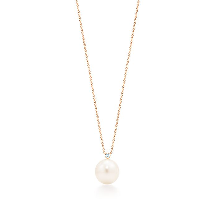 5c9f90cae Pendant in 18k rose gold with South Sea cultured pearls and diamonds ...