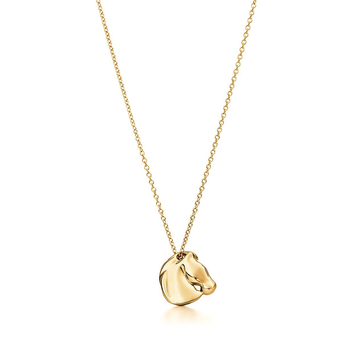 Elsa peretti zodiac horse pendant in 18k gold tiffany co elsa perettizodiac horse pendant aloadofball Images