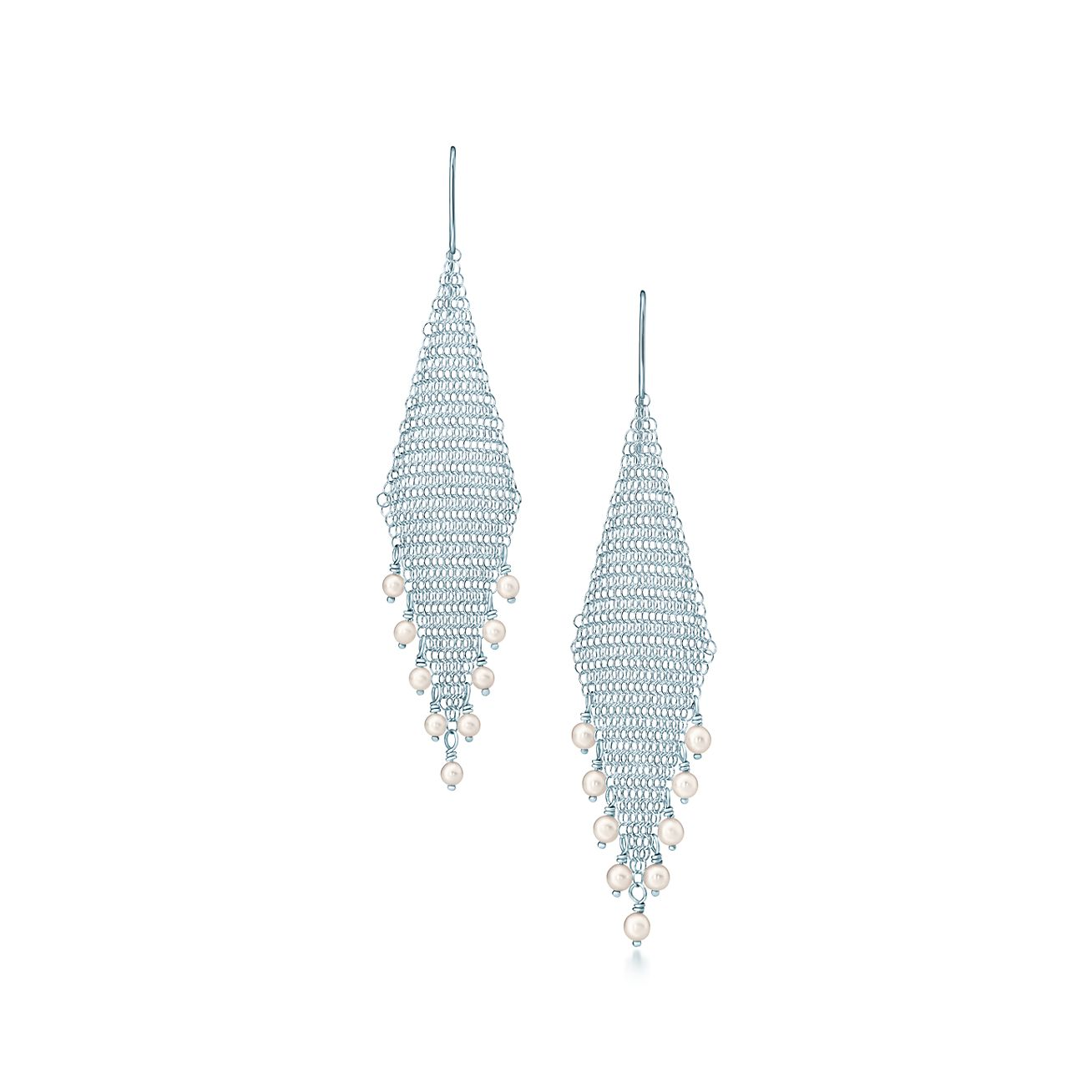 Elsa Peretti Mesh Fringe Earrings