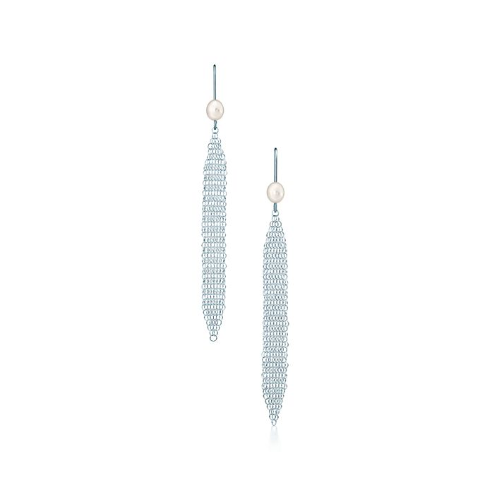 7bf90f2aa Elsa Peretti® Mesh tassel earrings in sterling silver with ...