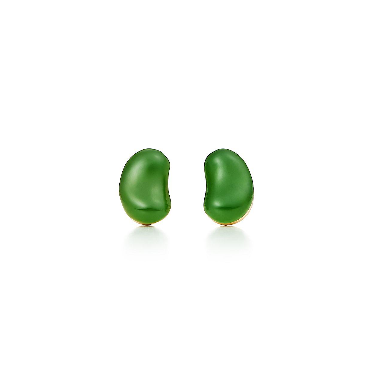 Elsa Peretti Bean earrings in 18k gold - Size 9 MM Tiffany & Co. SJTuXm67b