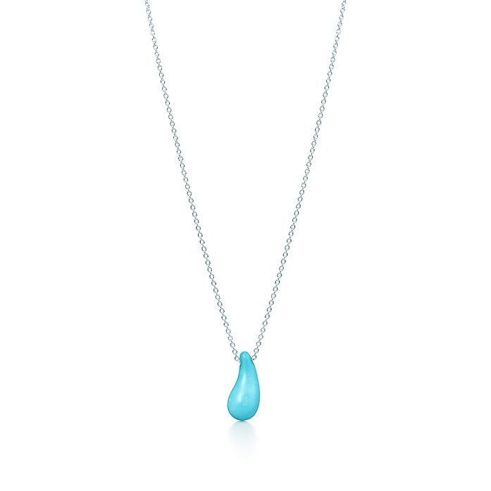 a5523e7968be Elsa Peretti® Teardrop pendant in sterling silver and turquoise ...