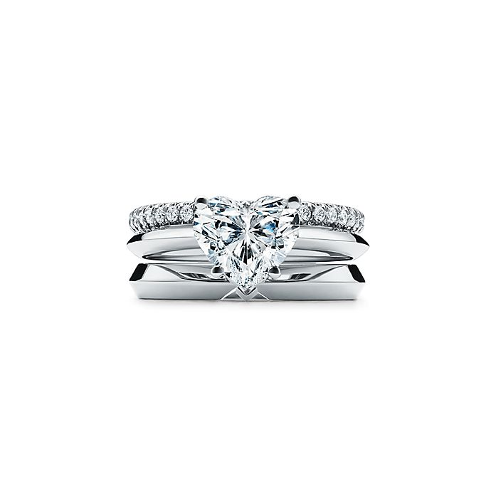 3217ce6506d Heart-shaped Diamond Engagement Ring in Platinum