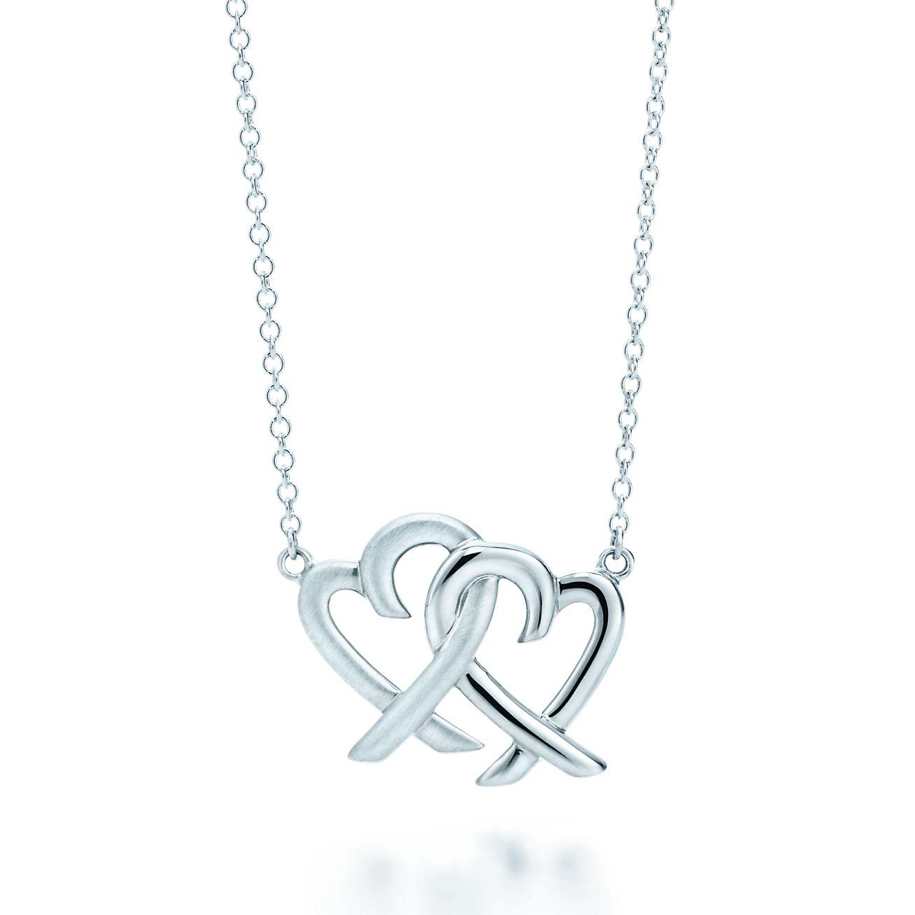 Paloma Picasso Loving Heart interlocking pendant in sterling silver Tiffany & Co.