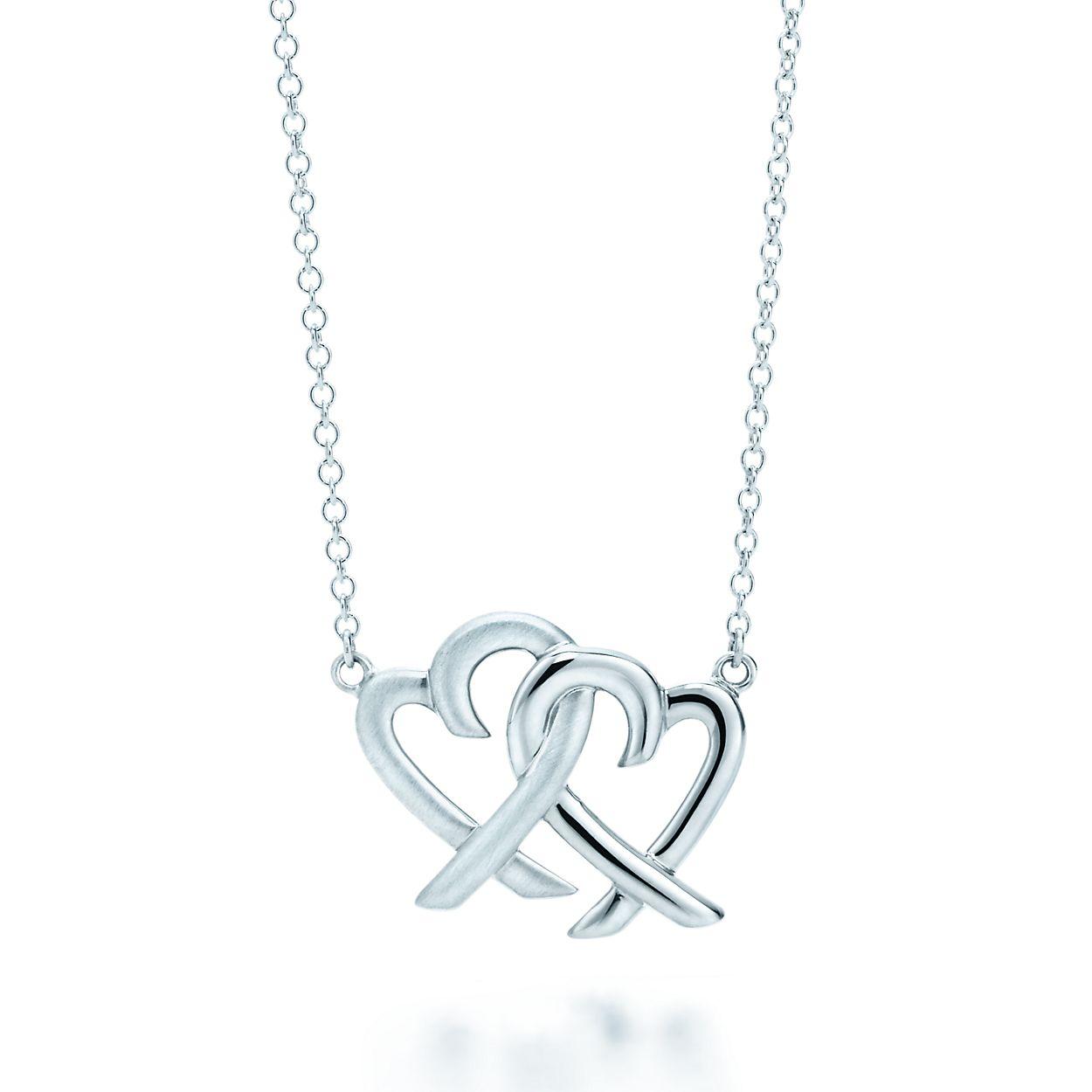 Paloma Picasso Loving Heart interlocking pendant in sterling silver Tiffany & Co. 4I1eQBd