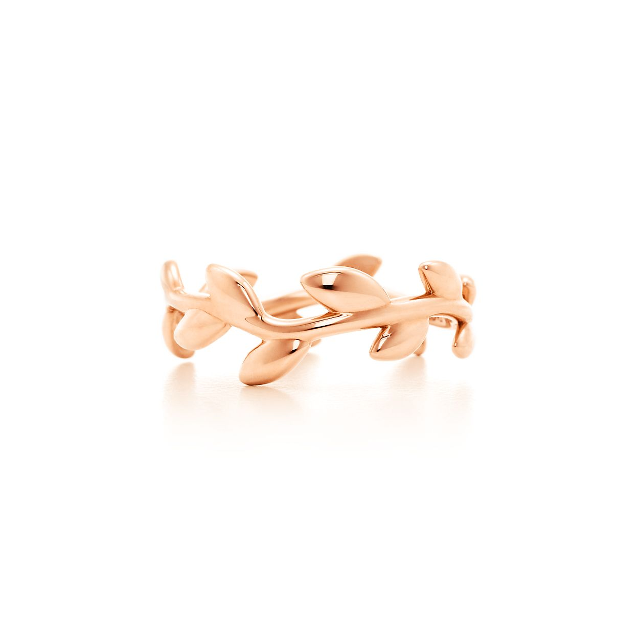 Paloma Picasso Olive Leaf band ring in 18k rose gold - Size 6 Tiffany & Co. WkJLna