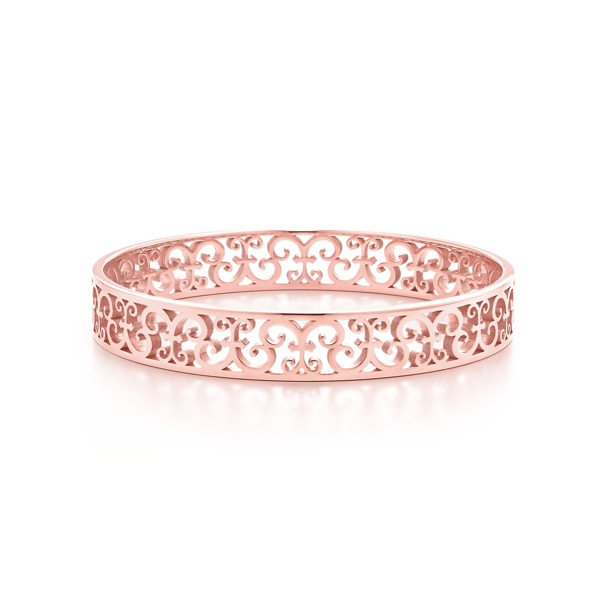 Tiffany Enchant® narrow bangle in Rubedo® metal, medium. | Tiffany & Co.