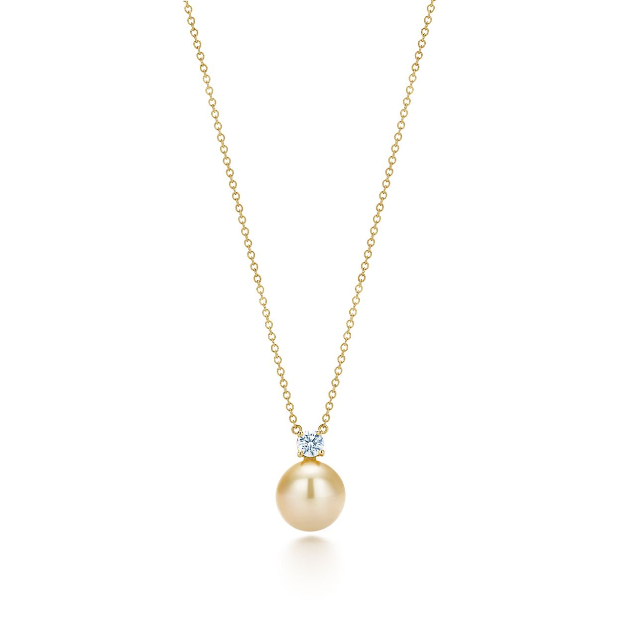 keepsake yellow pearl net gold pendant golden