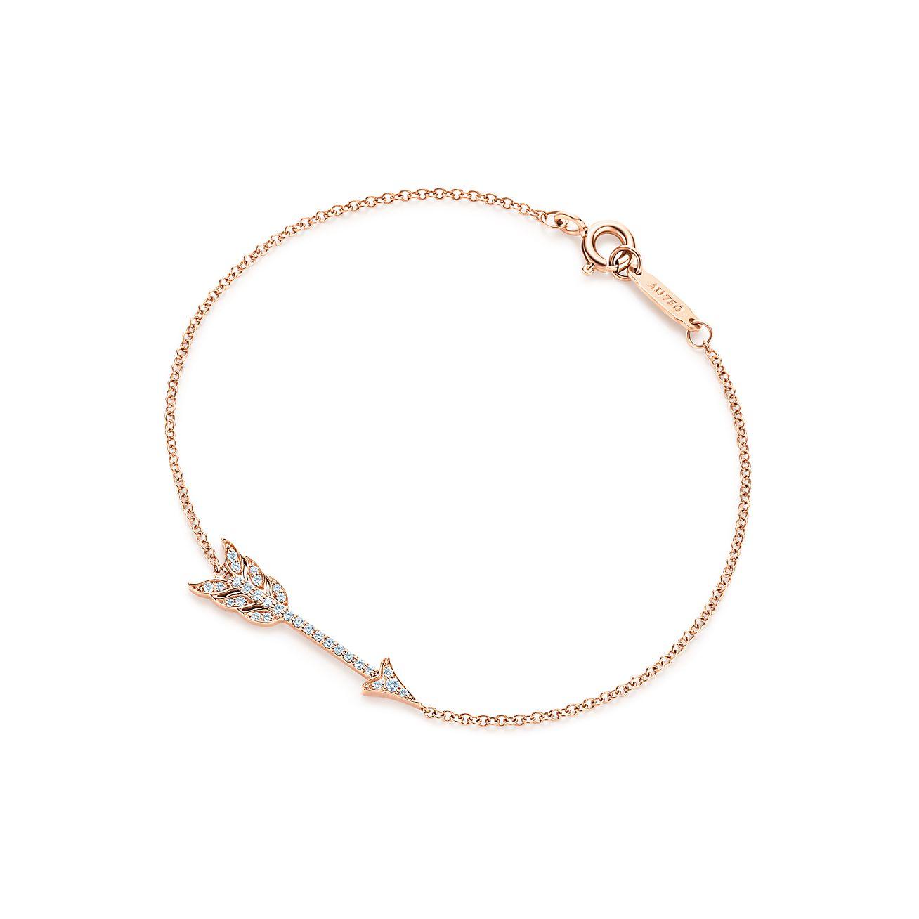 Arrow Bracelet In 18k Rose Gold With Diamonds Medium Tiffany Co