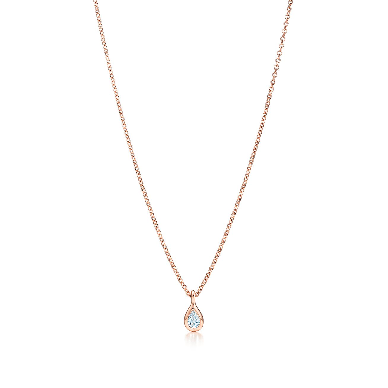 Elsa Peretti Diamonds by the Yard pendant in 18k rose gold - Size.17 Tiffany & Co.