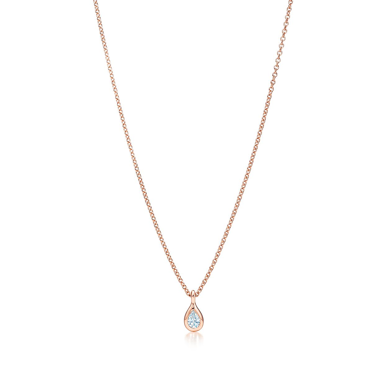 Elsa Peretti Diamonds by the Yard pendant in 18k rose gold - Size.17 Tiffany & Co. qjaN3M