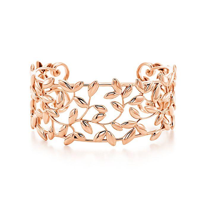 217ab65ae Paloma Picasso® Olive Leaf cuff in 18k rose gold, medium. | Tiffany ...