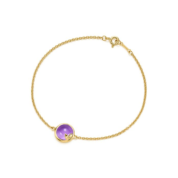 a1345e078 Paloma Picasso® Olive Leaf bracelet in 18k gold with an amethyst ...