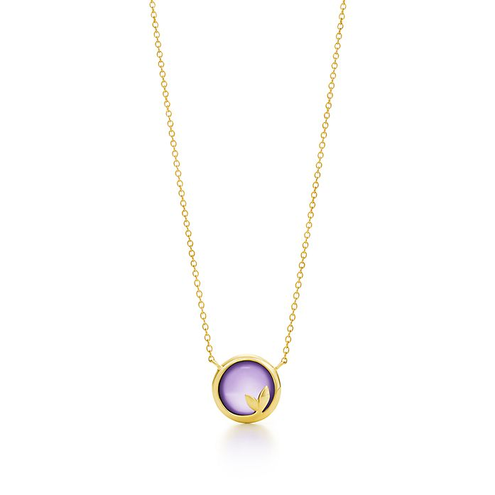 dc023b69e Paloma Picasso® Olive Leaf pendant in 18k gold with an amethyst ...