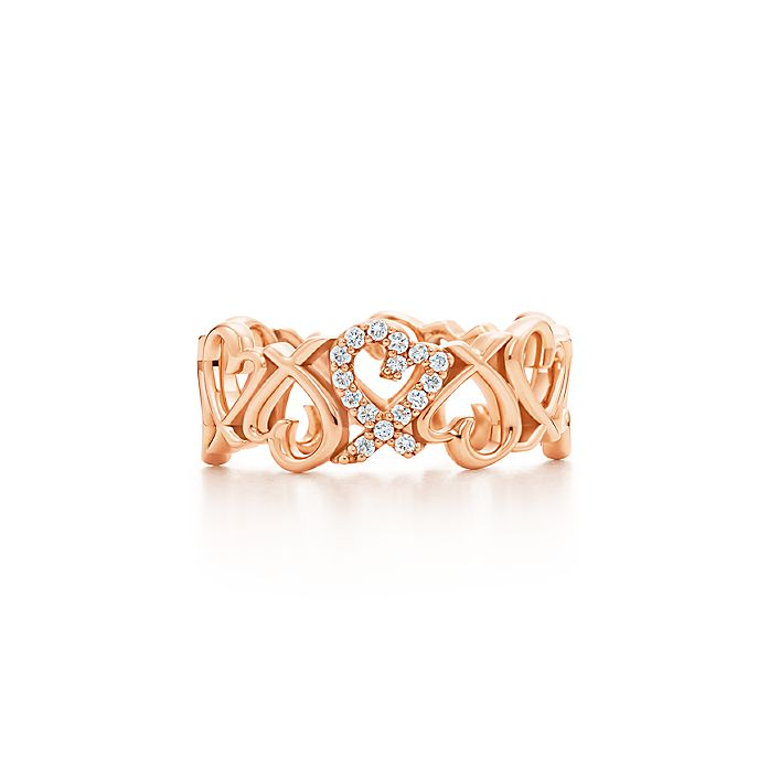 4719b2faf Paloma Picasso® Loving Heart band ring in 18k rose gold with ...
