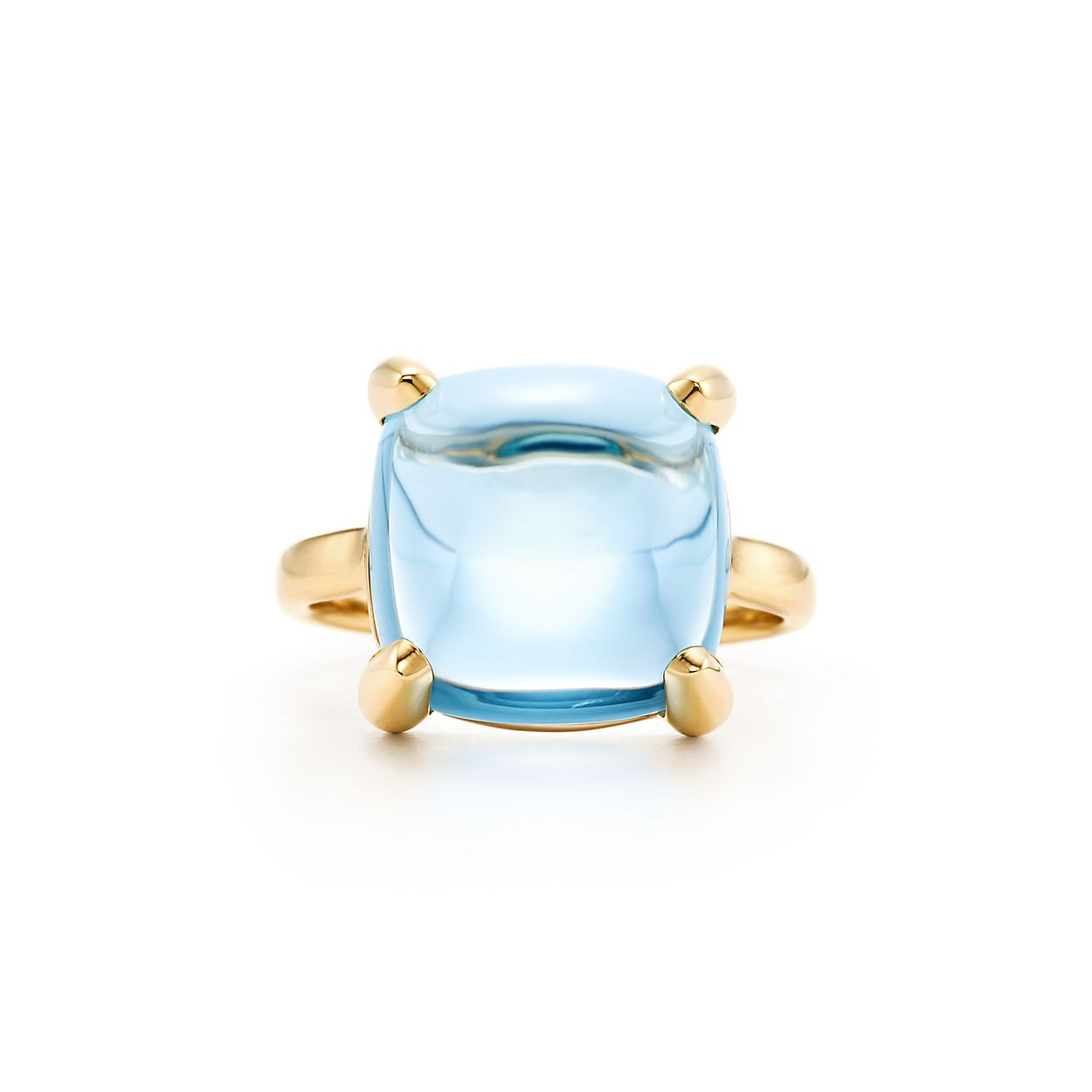 Palomas Sugar Stacks ring in 18k gold with a blue topaz - Size 7 Tiffany & Co. 2PiCE