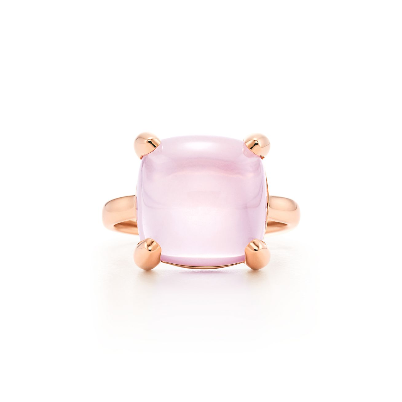 Palomas Sugar Stacks ring in 18k rose gold with a rose quartz - Size 6 Tiffany & Co.