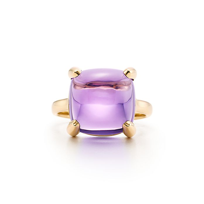 f4e3c617c Paloma's Sugar Stacks ring in 18k gold with an amethyst. | Tiffany & Co.