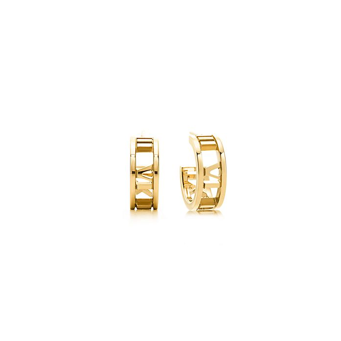 1e84123a8 Atlas® hoop earrings in 18k gold, mini.   Tiffany & Co.