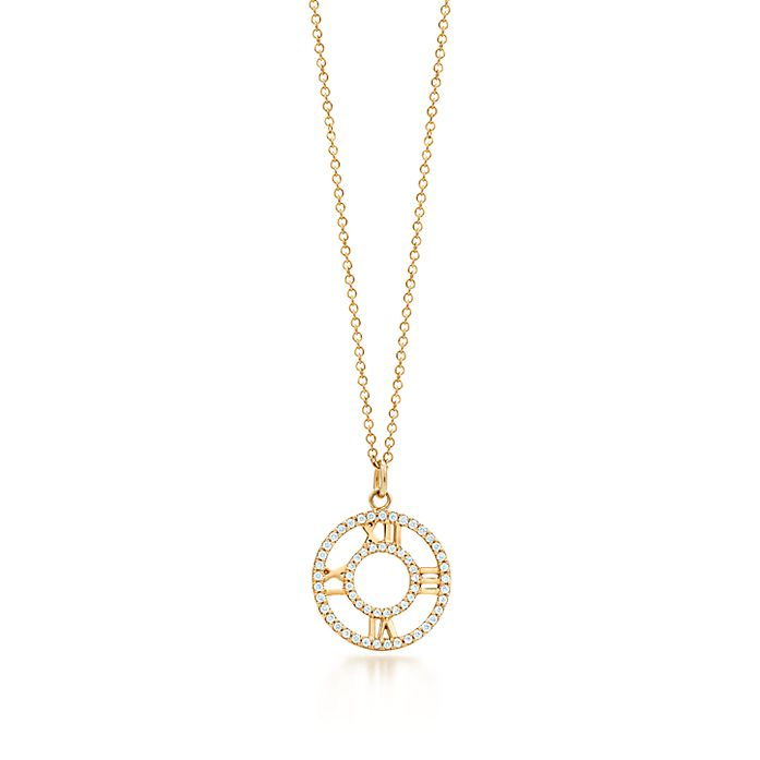 56ad44146 Atlas® open pendant in 18k gold with diamonds, small. | Tiffany & Co.