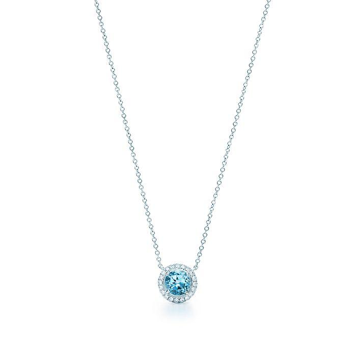 5afc986ba Tiffany Soleste® pendant in platinum with an aquamarine. | Tiffany & Co.