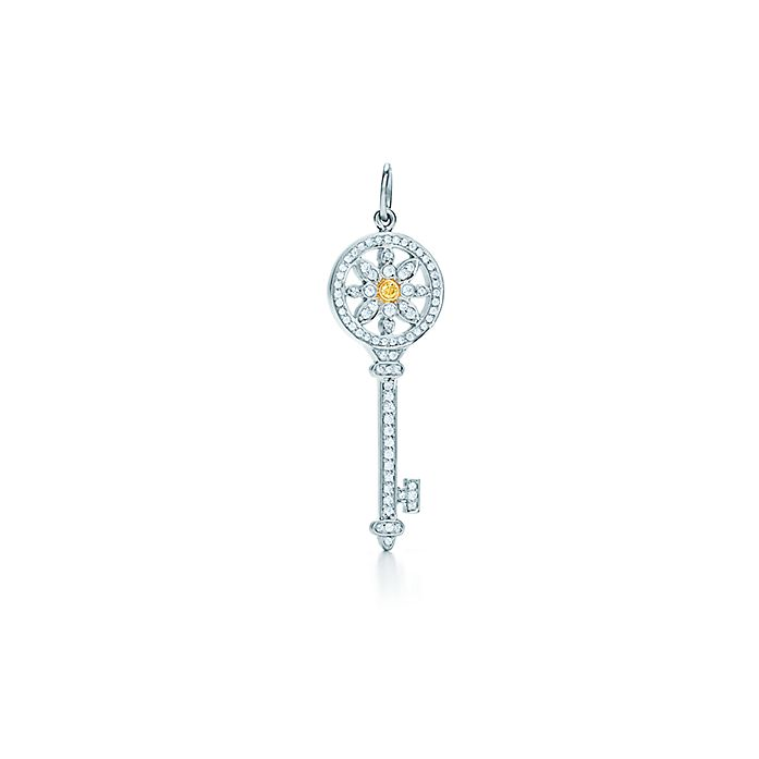 9f94f687b Tiffany Keys daisy key pendant in platinum and 18k gold with ...