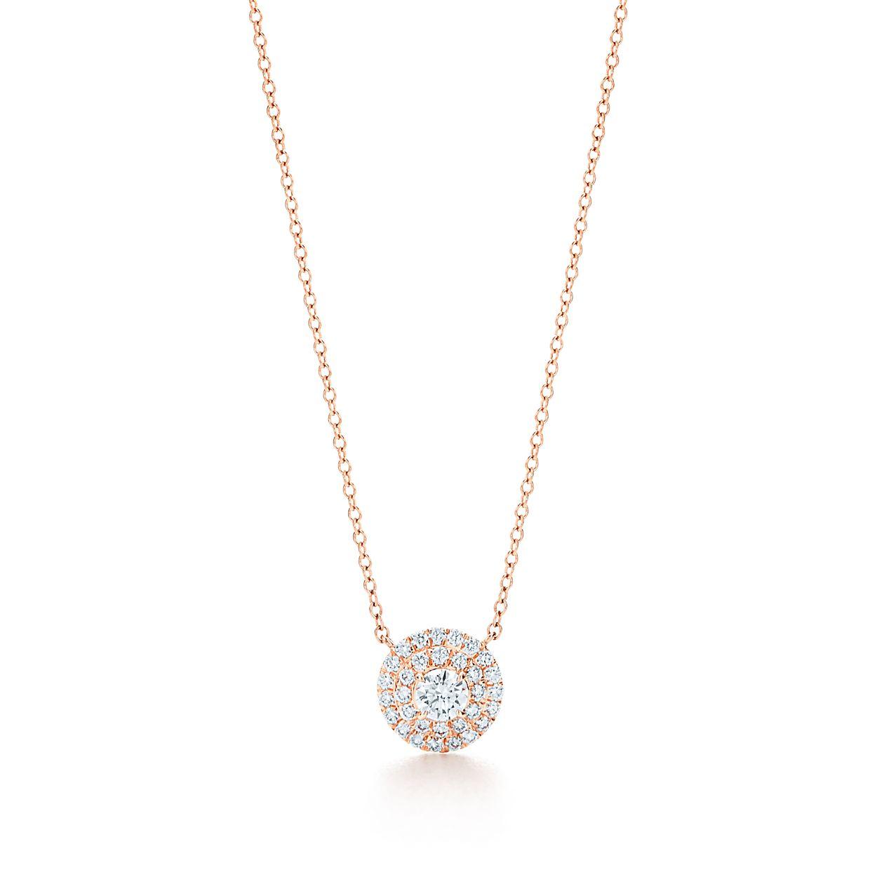 Tiffany soleste pendant in 18k rose gold with diamonds tiffany co tiffany solestependant tiffany solestependant aloadofball Gallery