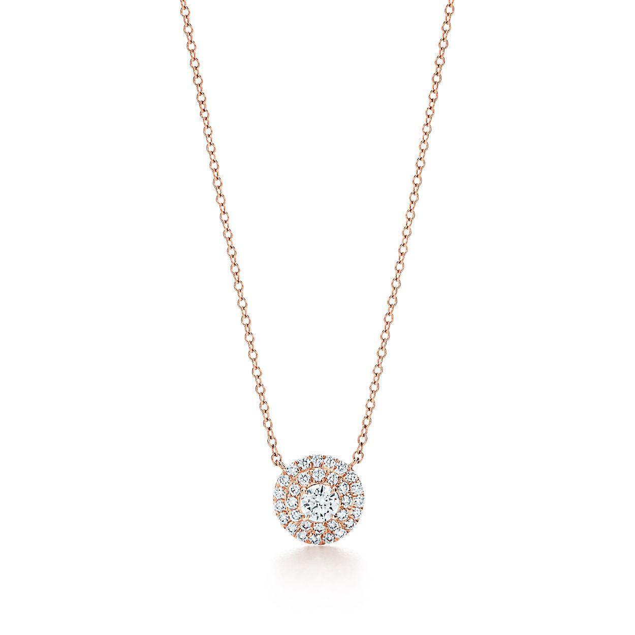 Pendentif Tiffany Soleste® en or rose 18 carats et diamants ... 8ab57095938b