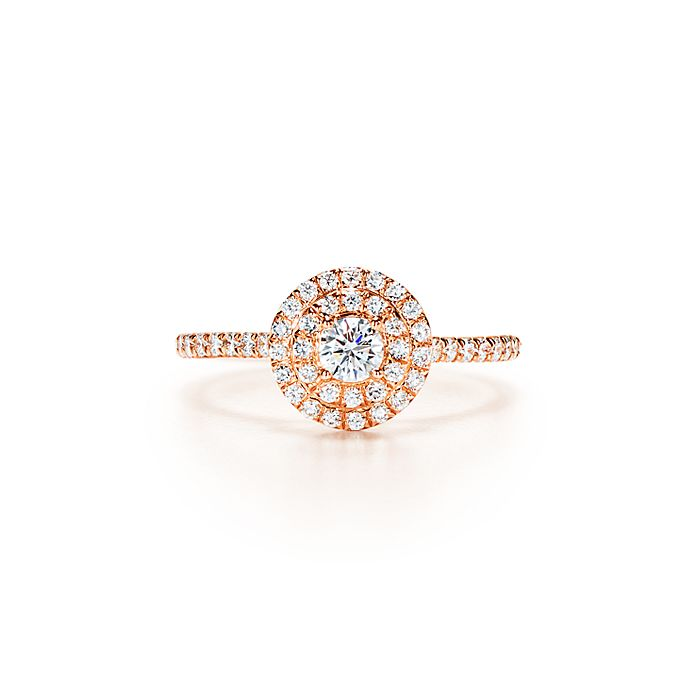 96ce926f5 Tiffany Soleste ring in 18k rose gold with diamonds. | Tiffany & Co.