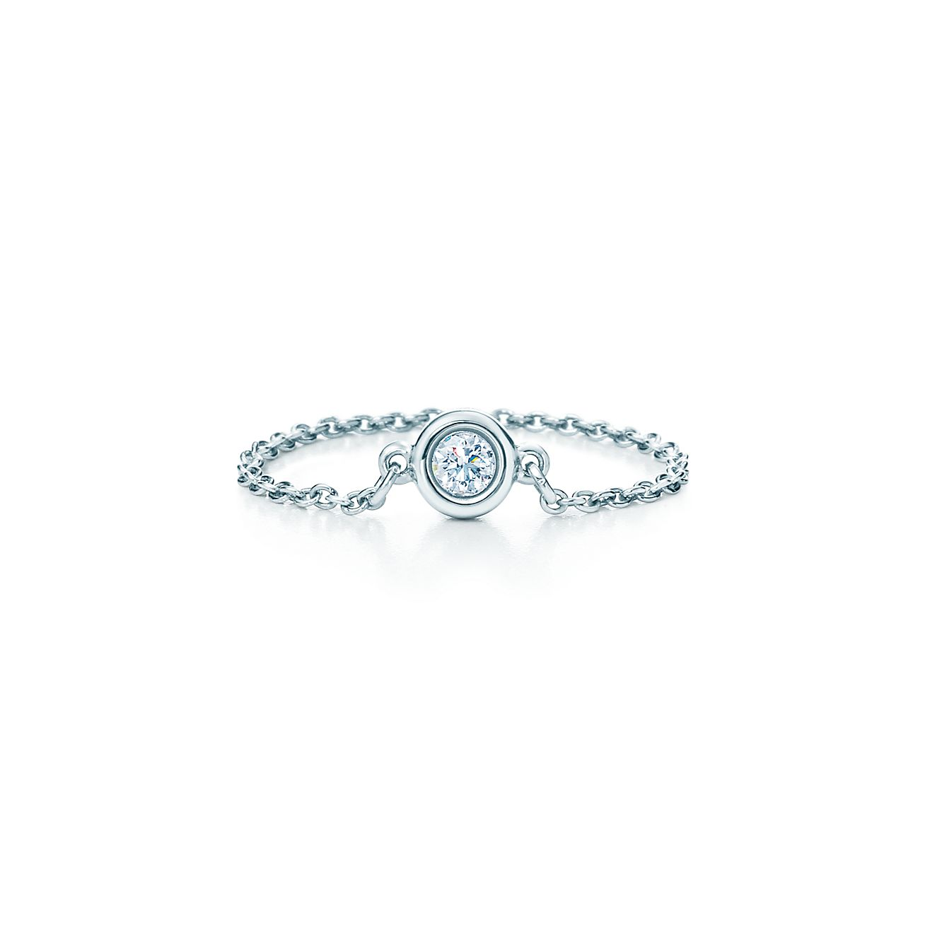 Elsa Peretti Diamonds by the Yard ring in platinum - Size 4 Tiffany & Co.